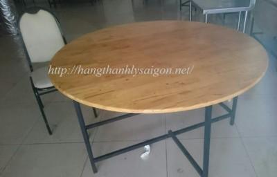 Thanh Lý bàn  Tròn 3 Miếng 1m4