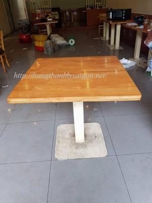 Bàn Cafe Chân Sắt Mặt Gỗ Thanh Lý