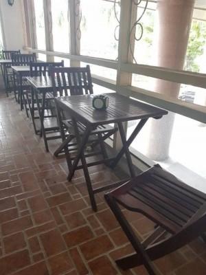 BÁN THANH LÝ BỘ BÀN GHẾ CAFE XẾP GỔ
