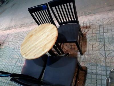 BÁN THANH LÝ BỘ BÀN GHẾ CAFE GỔ NIỆM SIMILI