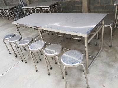Thanh Lý 19 bộ ghế inox dành cho căn tin, quán ăn