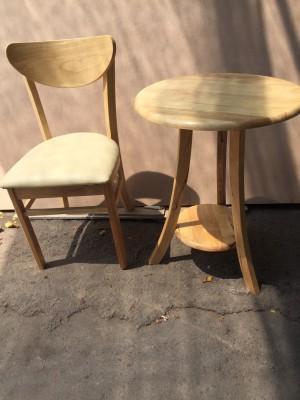 Bàn ghế cafe gỗ kiểu mới
